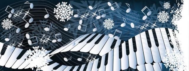Winter music  card vector illustration