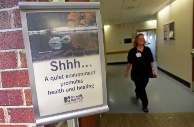 hospital quiet zone in hallway